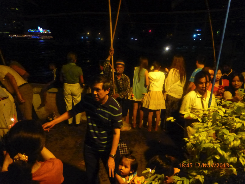 Loi Kratong on the Chao Phraya River Bangkok
