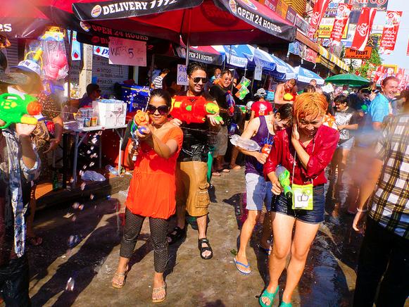 Songkran Khao Sarn Road Bangkok