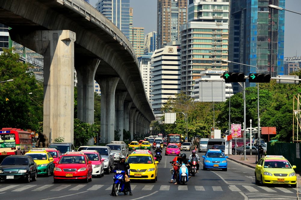 Taxis in central Bangkok